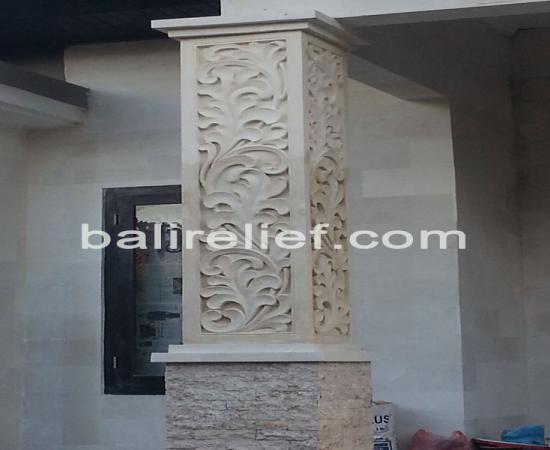 Balinese Carved Stone Panels - Statue GTE-012