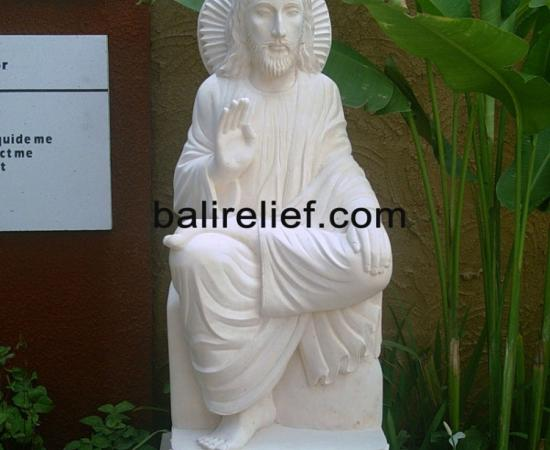 White Stone Carving Bali - Statue REL-006