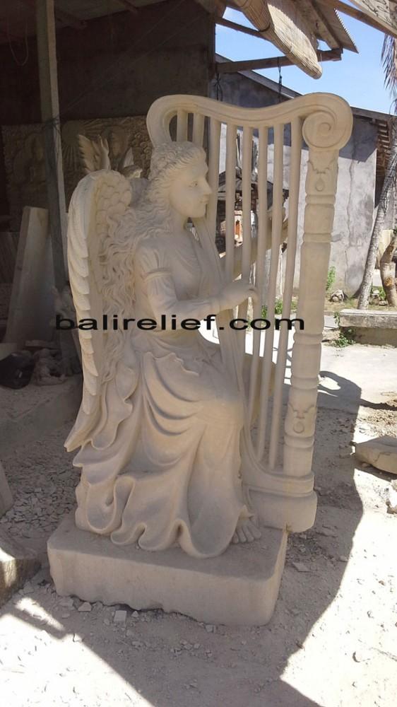 Bali White Stone Sculpture - Statue REL-002